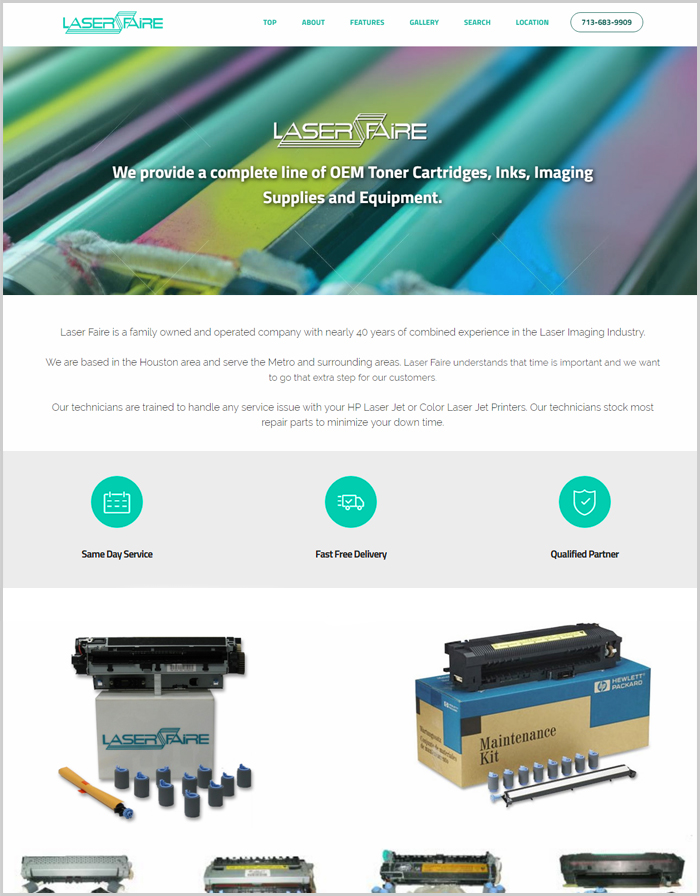 Laser Faire Website